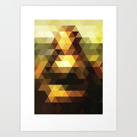 Mona Lisa remixed #2 Art Print