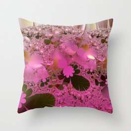 Walking across a dream meadow Throw Pillow