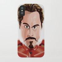tony stark iPhone & iPod Cases featuring Tony Stark/Iron Man by Greene Graphics
