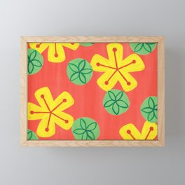 Retro Bright Floral Framed Mini Art Print