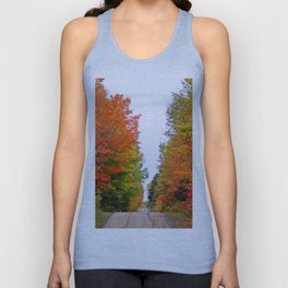Rolling Through the Hills of Autumn Unisex Tank Top