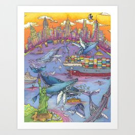 Return Of The Whales Art Print