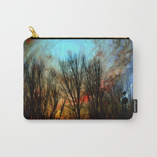 space nebula forest Carry-All Pouch