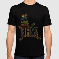 BAM! Mens Fitted Tee Black SMALL