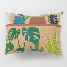Plants on the Shelf in Warm Wood Pillow Sham