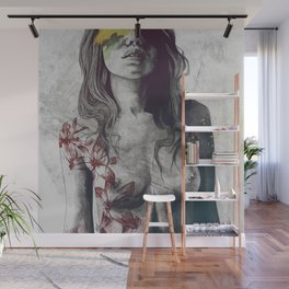 To The Marrow: Autumn (nude faceless girl in topless with lilies) Wall Mural