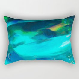 winter scenery abstract digital painting Rectangular Pillow