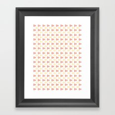 Summer flags Framed Art Print