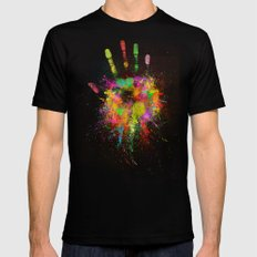 Artist Hand (1) Black MEDIUM Mens Fitted Tee