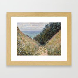 Road at La Cavée, Pourville Framed Art Print