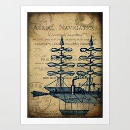 Vintage Airship Art Print