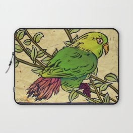 Parrot Linocut Laptop Sleeve