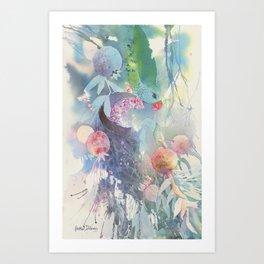 Pinching Pomegranates Art Print