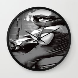 Girl on Moped  Wall Clock
