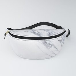 White Marble with Classic Black Veins Fanny Pack