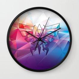 Zelda Triforce colorful Diamond Wall Clock