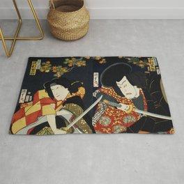 Japanese Art Print - Kabuki Actor #13 Rug