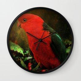 Australian King Parrot 1 Wall Clock