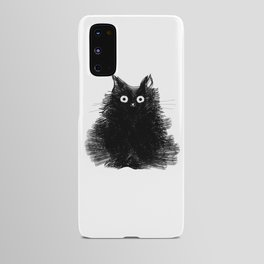 Duster - Black Cat Drawing Android Case