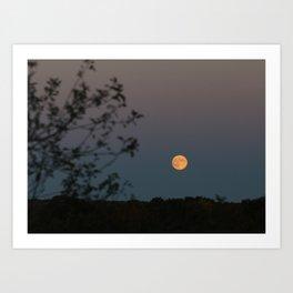 Full Yellow Moon Rise Art Print