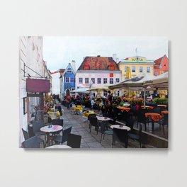 Tallinn restaurants Metal Print
