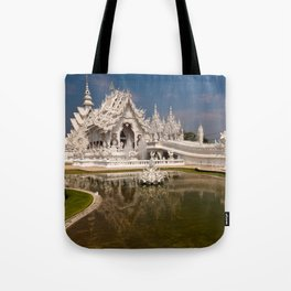 White Temple Tote Bag