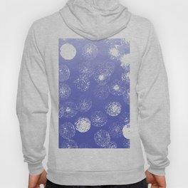 Abstract hand painted violet white watercolor paint polka dots Hoody