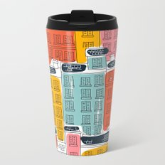 Cinque Terre Houses Metal Travel Mug