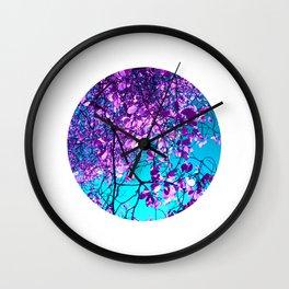 purple tree XXIX Wall Clock