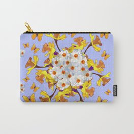 """Joy Of Spring"" Daffodils in Blue Shades Carry-All Pouch"