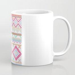 Pink teal Aztec Tribal Diamond geometric Pattern Coffee Mug