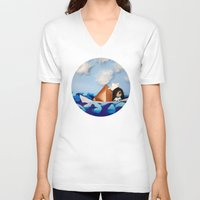 caleb troy V-neck T-shirts featuring Troy Marinera ~ Sailor by Marivi Troy