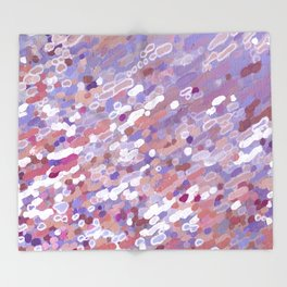 Violet Wave Reflections Throw Blanket