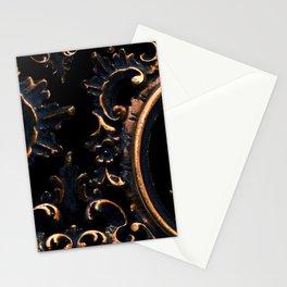 Frames on Black Stationery Cards