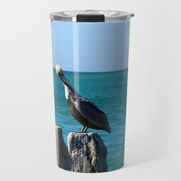 Two Old Guys On A Jetty Travel Mug