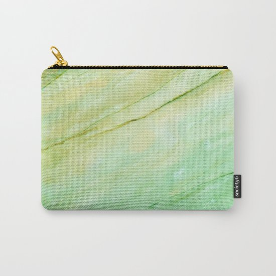Light green marble Carry-All Pouch