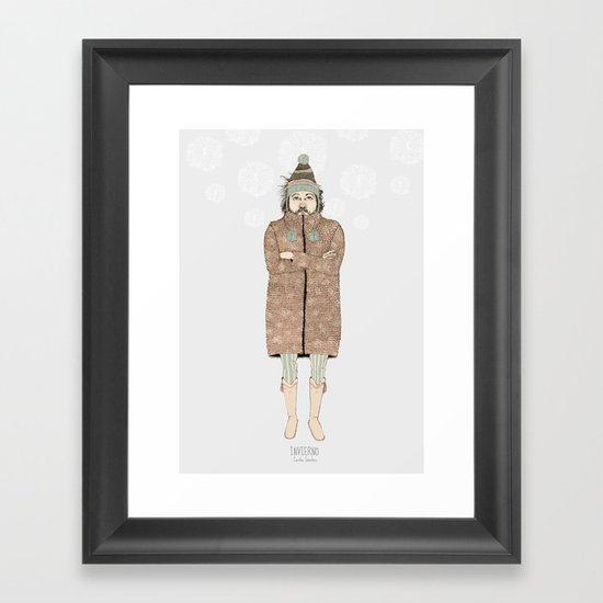 """INVIERNO_""""las tendencias de Ufri"""" Framed Art Print"""