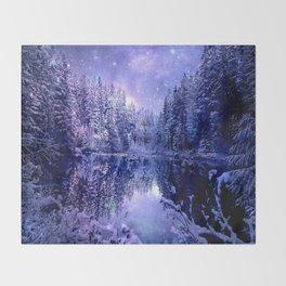 Lavender Winter Wonderland : A Cold Winter's Night Throw Blanket