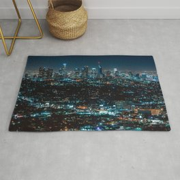 Los Angeles Skyline By Night United States Ultra HD Rug