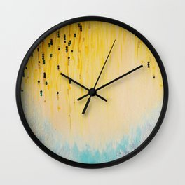 MYSTIC GARDEN Lovely Fairy Land Abstract Painting Acrylic Fine Art Winter Colorful Fantasy Magical Wall Clock