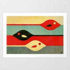 Three Fish in My Mind Art Print