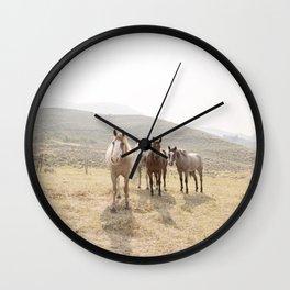 Mountain Horses Wall Clock