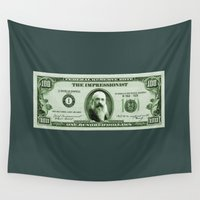 monet Wall Tapestries featuring Check the Monet by Thomas Orrow