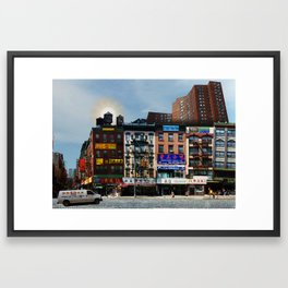Walk on Little Fuzhou - New York Framed Art Print