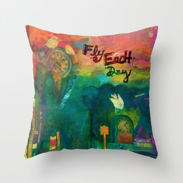 Fly Each Day Throw Pillow