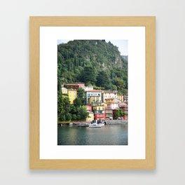 Vivid Varenna Framed Art Print