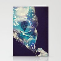 imagination Stationery Cards featuring Dream Big by dan elijah g. fajardo