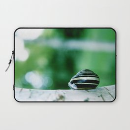 Snail on Silver Birch Laptop Sleeve