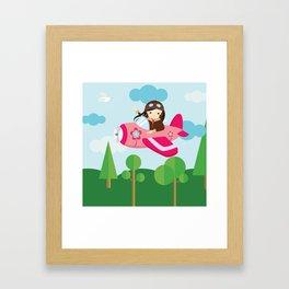 nursery decor , children gift, birthday gift Framed Art Print