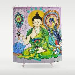 Buddha Freedom Nirvana Shower Curtain